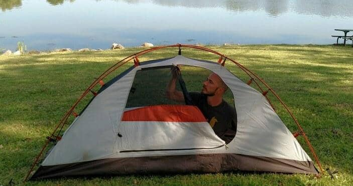 best solo tent cycling
