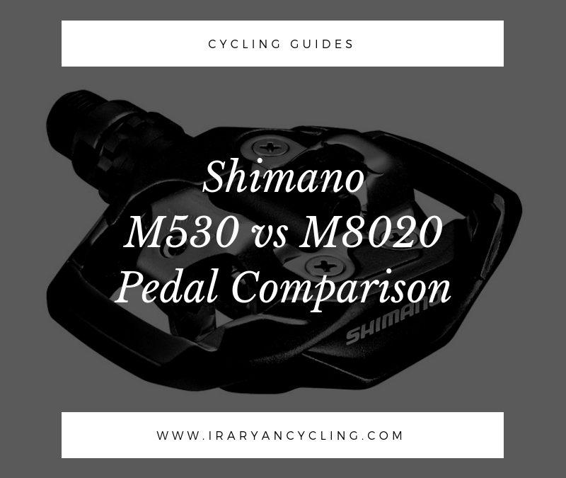 Shimano M530 vs M8020 Pedal Comparison
